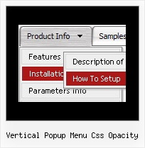 Vertical Popup Menu Css Opacity Javascript Side Bar