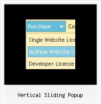 Vertical Sliding Popup Simple Drop Down Menu