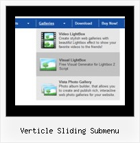 Verticle Sliding Submenu Java Menus Transparent