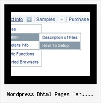 Wordpress Dhtml Pages Menu Subpages Tree And Javascript And Source