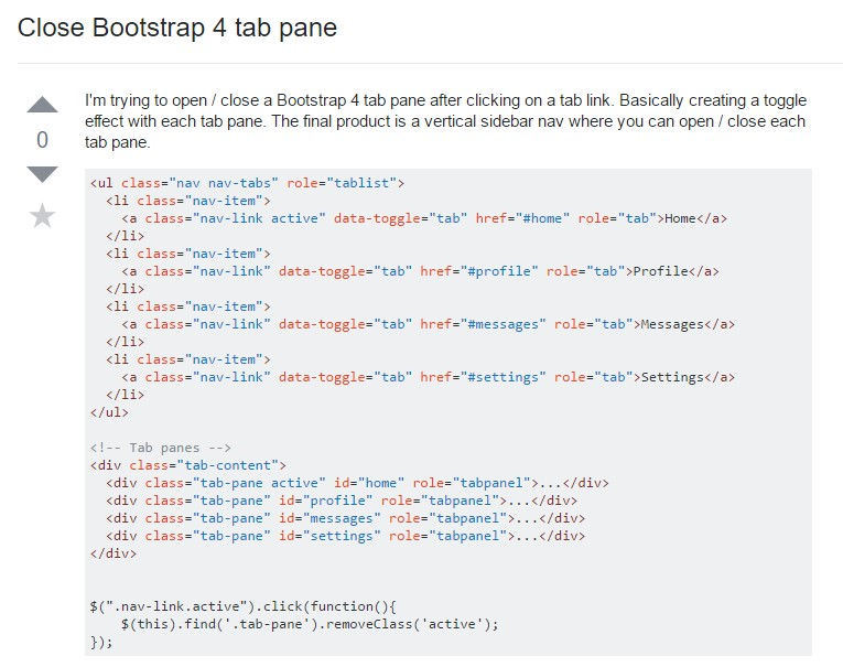 Tips on how to  shut off Bootstrap 4 tab pane
