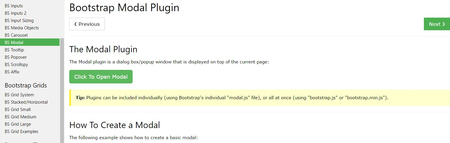 Bootstrap Modal Popup:  short training  information