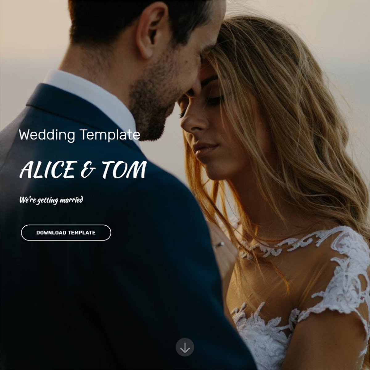 HTML5 Bootstrap Wedding Themes