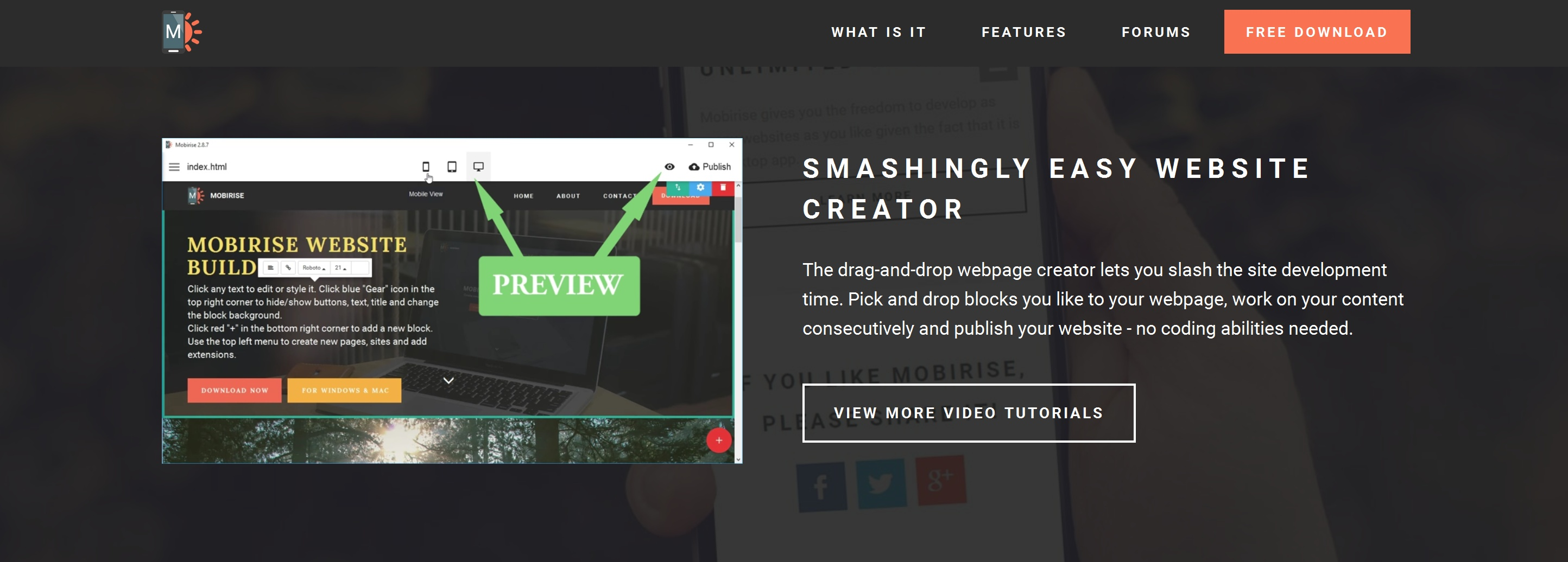 Simple HTML5 Web Page  Creator Software