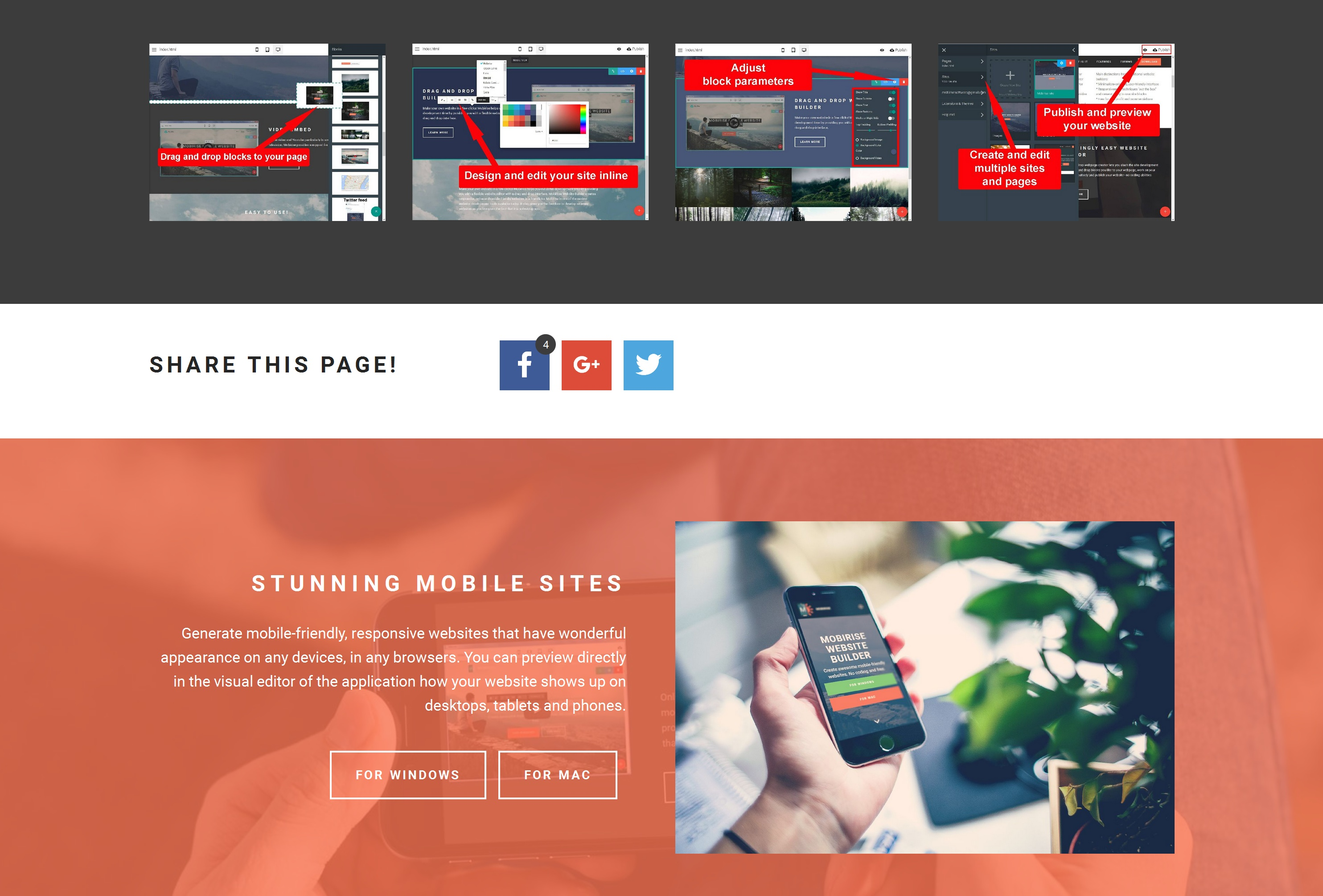 Mobile Web Page  Creator Software