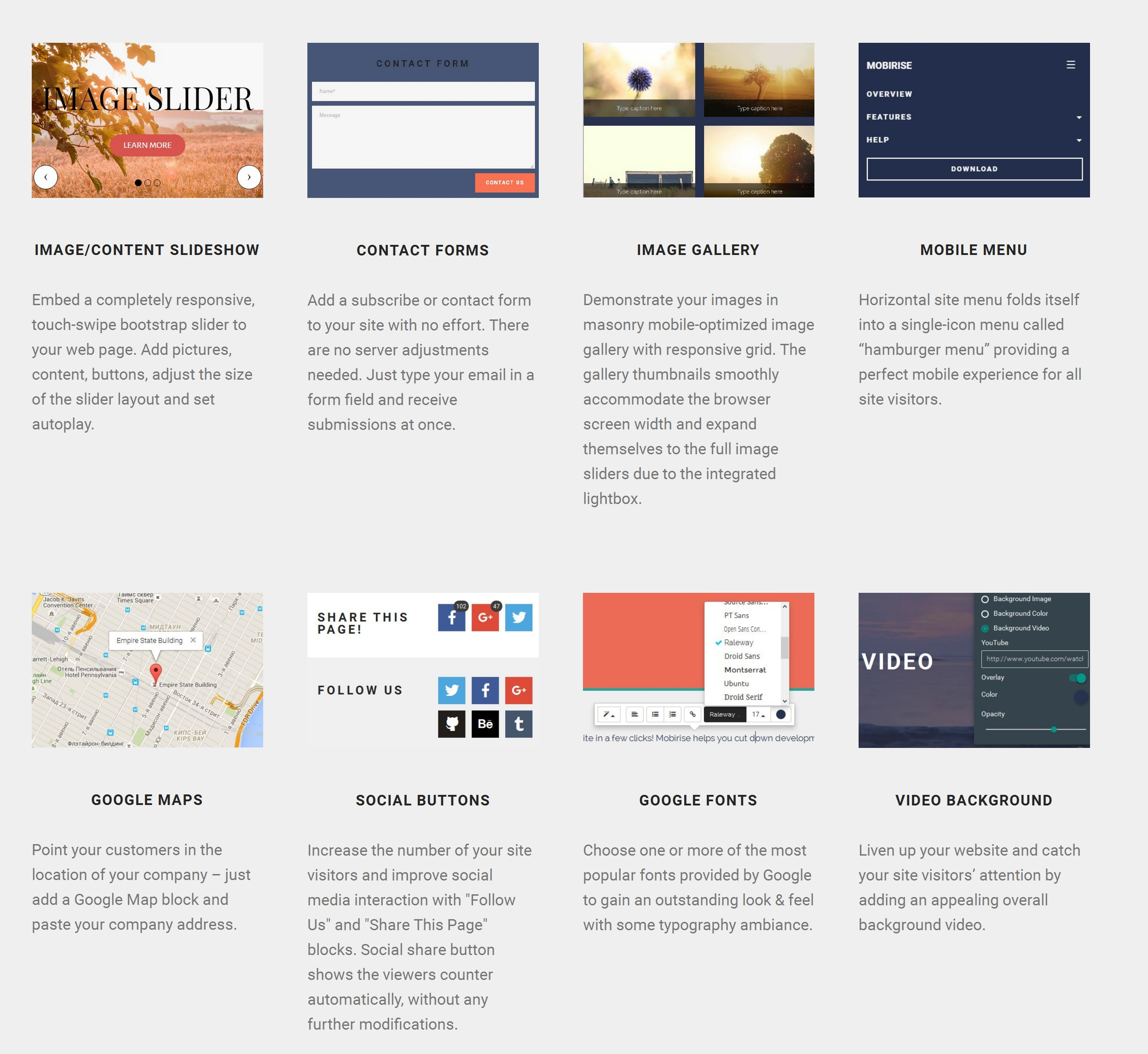 Simple Responsive Web Page  Builder Software