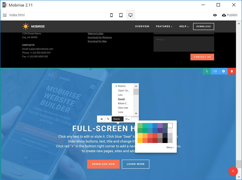 Best HTML Web Page  Builder