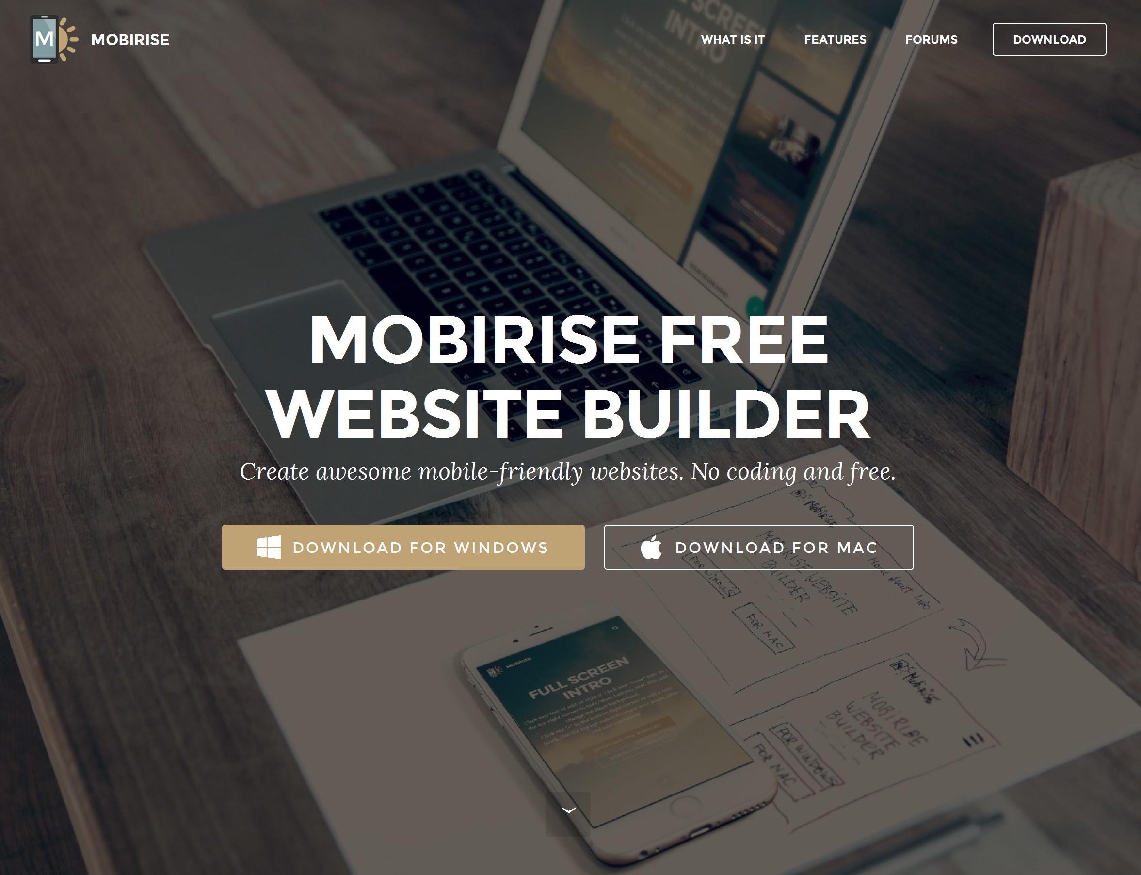 WYSIWYG Responsive Site Builder
