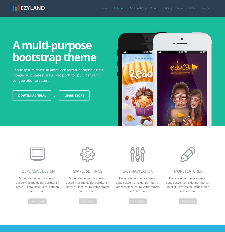 Free Bootstrap Portal Theme