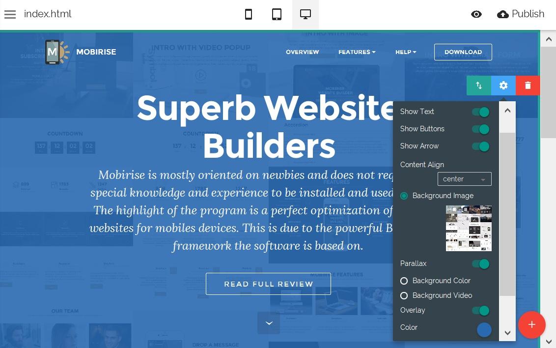 Responsive Web Editor