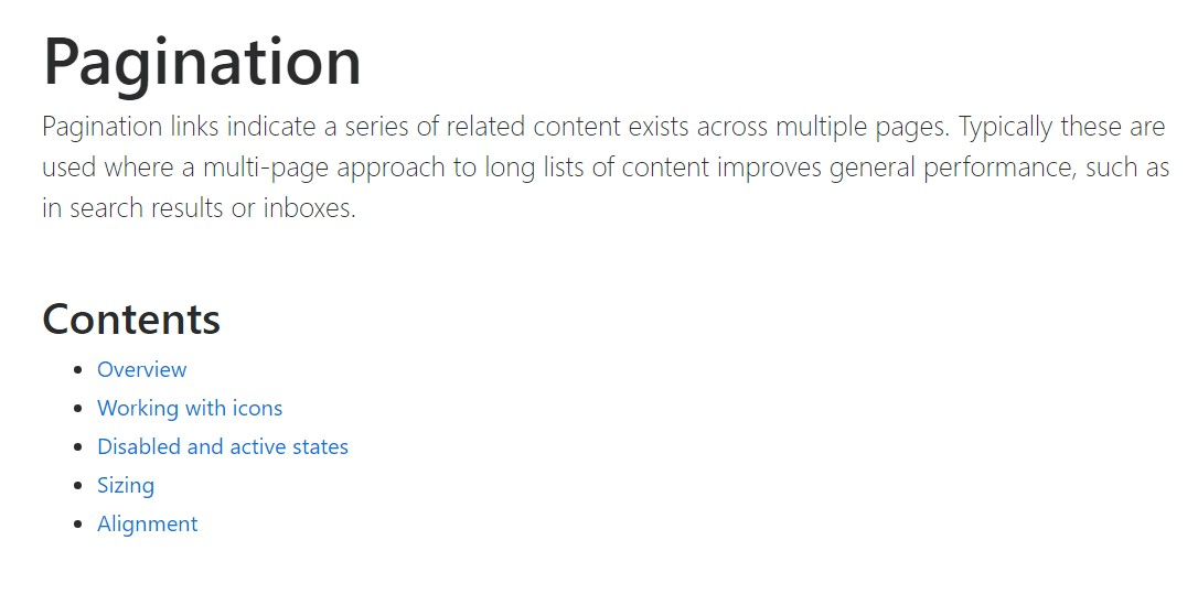 Bootstrap pagination official  records