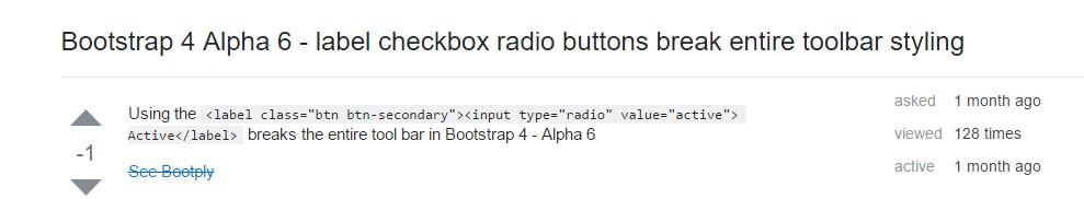 Checkbox radio buttons break entire toolbar styling