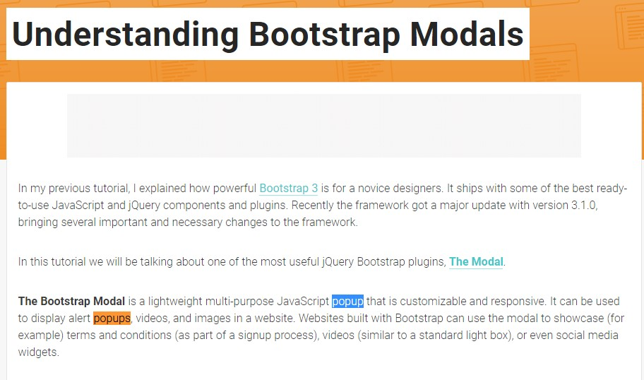 Yet another  helpful article about Bootstrap Modal Popup
